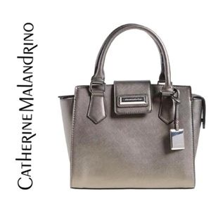 Catherine Malandrino Gray Christina Satchel Bag